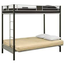 Black Metal Futon Bunk Bed Silver Screen Futon Metal Bunk Bed Silver Black Dhp