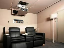 home theater in basement setting up an audio system in a media room or home theater diy