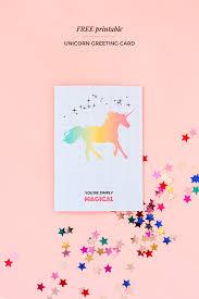 printable greeting cards printable unicorn greeting card make and tell