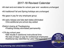 palm county school district considering calendar changes for