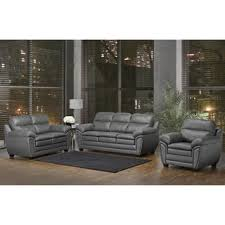 Gray Leather Sofas Galaxy Gray Top Grain Leather Lay Flat Reclining Sofa Loveseat