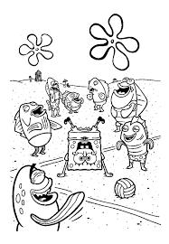 spongebob happy thanksgiving coloring page coloring