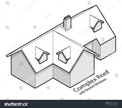 Hipped Dormer Building Roof Type Complex Hip Valley Stock Vector 684579664