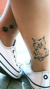20 coolest owl tattoos ideas ankle tat leg tattoos and tatting