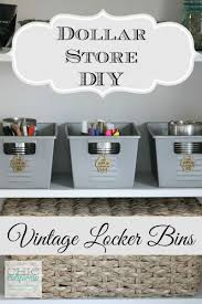 dollar store diy home decor dollar store diy vintage locker bins by chic california home