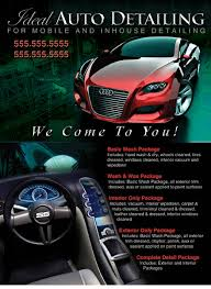 auto detailing flyer template 6 best images of auto detailing