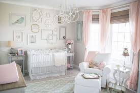 Beige And Pink Curtains Decorating Baby Nursery With Pink Curtains And Wall Frames Nursery