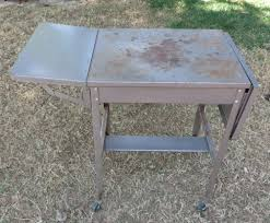 Remove Rust From Metal Furniture by Rust Not A Problem Old Metal Typewriter Table Repurposed
