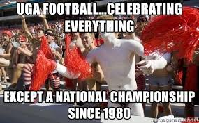 uga football celebrating everything except a national chionship