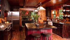Wood Kitchen Designs 15 Rustic Kitchen Cabinets Designs Ideas With Photo Gallery
