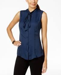 sleeveless tie neck blouse klein sleeveless tie neck blouse s brands