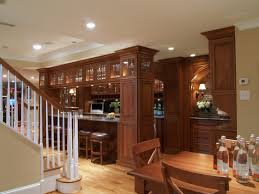 interior finished basement bar with regard to great basement