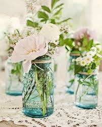 jar flower arrangements something blue 45 rustic blue jars wedding ideas jar