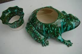ceramic frog self watering planter m and s ceramics