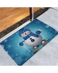 Snowman Rug Black Friday Sales On Antislip Christmas Snowman Print Bath Rug
