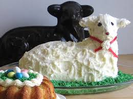 Easter Decorated Bundt Cake by Traditional Easter Lamb Shaped Pound Cake Recipe