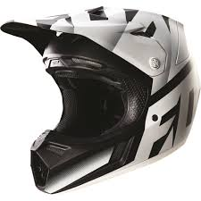motocross helmet visor fox racing 2016 v3 shiv helmet black white available at motocross
