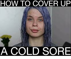 Head Cold Meme - how to cover up a cold sore meme on me me