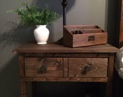 rustic nightstand etsy
