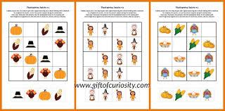free thanksgiving sudoku printables
