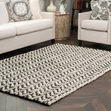 Black And White Living Room Rug Kosas Home Devisal Hand Woven Black White Area Rug U0026 Reviews Wayfair