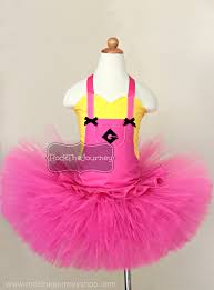 pink and yellow minion tutu costume despicable me birthday