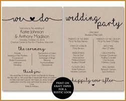 wedding programs with pictures wedding ceremony program notary letter