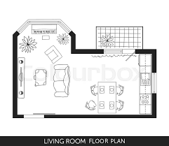 living room floor plan living room and kitchen plan with furniture in top view