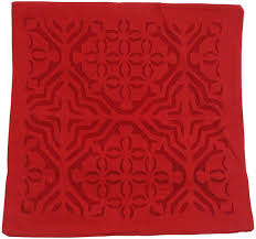 Wholesale Suppliers For Home Decor Wholesale Pure Cotton Red Cushion Cover In Bulk 16x16 U201d Hand