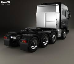 2014 volvo truck tractor volvo fh 750 globetrotter cab tractor truck 4 axle 2014 3d model