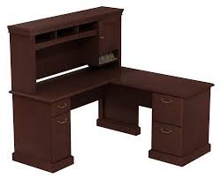 Cherry Secretary Desk With Hutch by Bush Furniture Vantage Corner Desk Harvest Cherry