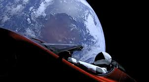 Elon musk 39 s tesla roadster which launched on top of spacex 39 s