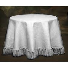 White Table Cloths 120 Natural White Tablecloth Fringed Burlap Boutique