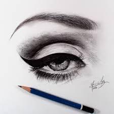 make up eye sketch by pencilgram on we heart it
