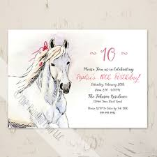equestrian stationery birthday u0026 wedding invitations horse