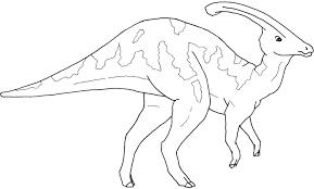 parasaurolophus coloring page dinosaur pinterest