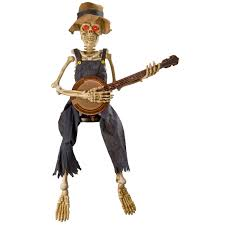 halloween decorations skeleton halloween animated banjo playing skeleton youtube