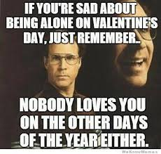 No Valentine Meme - if you re sad about being alone on valentine s day just remember