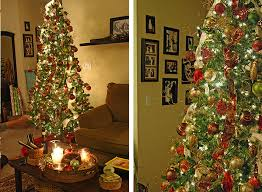 unusual room decor plain christmas tree decorations with ribbons