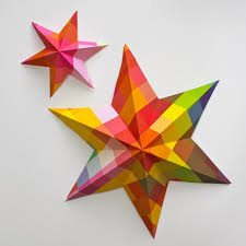 included diy paper art projects learn how to make 3d paper stars video
