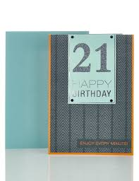21st birthday card m u0026s