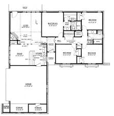 1500 sq ft home ranch style house plan 4 beds 2 baths 1500 sq ft plan single