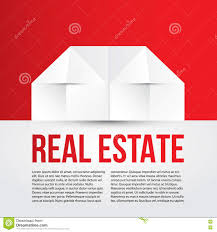 white paper house on red background concept for corporate