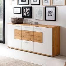 Esszimmer Schrank Eiche Esszimmer Sideboard In Weiß Mit Eiche Furniert 165 Cm Jetzt