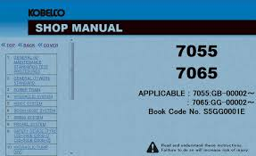 kobelco crawler crane 7055 7065 shop manual pdf repair manual
