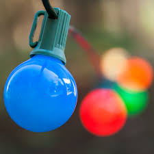 Patio String Lighting Ideas by Christmas Lights 25 G40 Opaque Multicolor Patio Lights