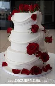 draped cake draped wedding cake with fresh red roses i love