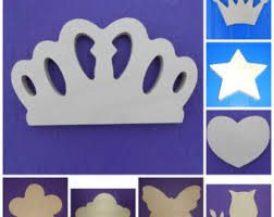 wooden crown shape etsy