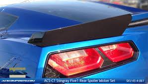 2014 2018 c7 corvette acs five1 z51 wicker spoiler conversion kit