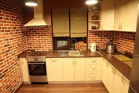 how to hang kitchen cabinets on brick wall outstanding 20 beautiful brick kitchen design ideas